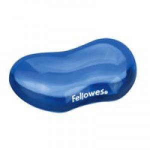 Fellowes Crystal Gel Flex Wrist Rest Blue 91177-72