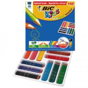 Bic Kids Evo Colouring Pencils Assorted Colours Pack 144 887830