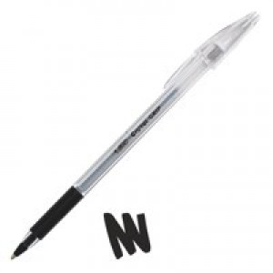 Bic Cristal Grip Medium Ballpoint Pen Black 802800