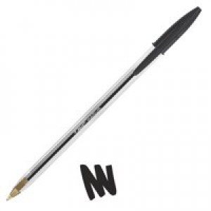 Bic Cristal Medium Ball Point Pen Black (Pk 50) 837363