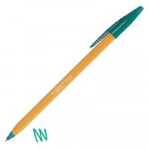 Bic Orange Fine Ballpoint Pen Green 1199110113