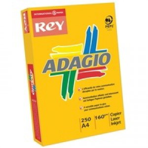 Adagio Card A4 160gsm Bright Green Pack of 250 ABGN2116