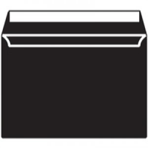 Blake C5 Wallet Envelope Peel And Seal 120gsm Pack of 250 Black 314