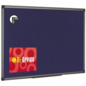 Bi-Office Felt Board 600x450mm Blue Aluminium Finish FB0443186
