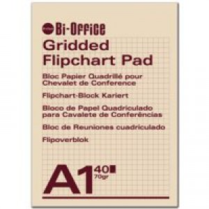 Bi-Office Flipchart Pad A1 Gridded FL012301