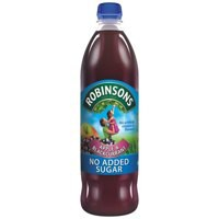 Robinsons No Added Sugar Apple/Blackcurrant Squash 1 Litre Pack of 12