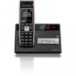 BT Diverse 7450 Plus DECT Telephone Single Black 44712
