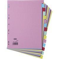 Elba Card Divider A4 15-Part Assorted 100080774