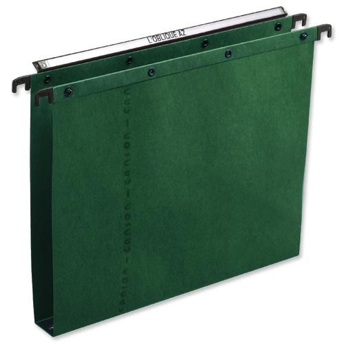 Elba Suspension File Foolscap Azo 30mm Base Green Pack of 25 L206552