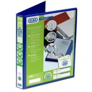 Elba Panorama Presentation Binder A4 4D-Ring 25mm Blue 400008415