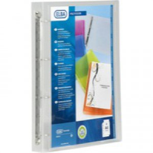 Elba Polyvision 4-Ring Binder 25mm A4 Clear 100081049