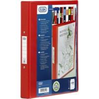 Image for Bantex 4-Ring Binder PVC A4 Red 1301099