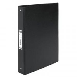 Bantex 4-Ring Binder PVC A4 Black 100080881