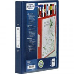 Bantex Vision 2-Ring Binder A4 25mm Blue 100080886