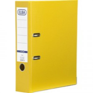 Bantex Lever Arch File PVC A4 Upright 70mm Yellow 100080901