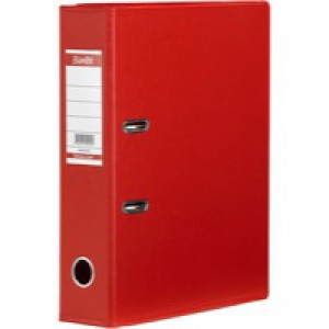 Elba Lever Arch File PVC A4 Upright 70mm Red 100080903