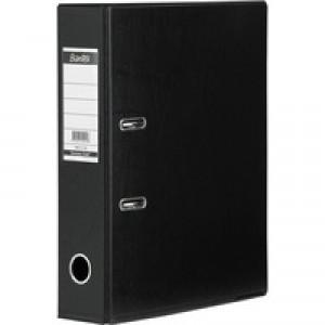 Elba Lever Arch File PVC A4 Upright 70mm Black 100080904