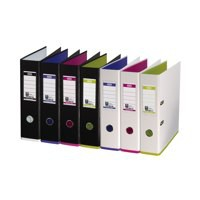 Mycolour A4 Lever Arch File White/Lime Each