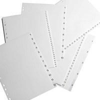 Elba Polypropylene Index Europunched A4 1-10 White Ref 100204765