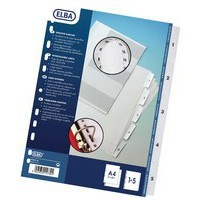 Elba A4 Mylar Index 1-5 White 100204623
