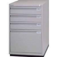 Bisley Filing Cabinet 3+1-Drawer Flush Fronted Lockable Goose Grey 1F3E