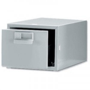 Bisley Card Index Cabinet 8x5 inches Single Grey FCB15