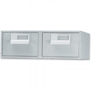 Bisley Card Index Cabinet 6x4 inches Double Grey FCB24