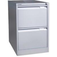Bisley 2-Drawer Filing Cabinet Lockable Goose Grey Flush Fronted BS2E