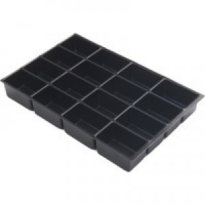 Bisley Multi Drawer Insert Tray Plastic 51mm High 16 Compartments BY00622