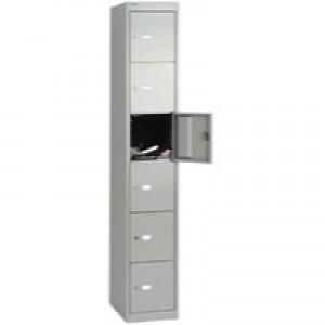 Bisley 6 Door Locker 305x457x1802mm Goose Grey
