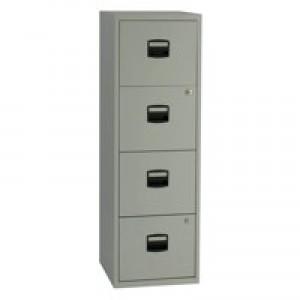 Bisley A4 Personal Filer 4-Drawer Grey BY37874