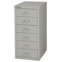 Bisley Multi-Drawer Cabinet 29 inches 6 Drawer Non-Locking Grey 29/6 H296NL-073