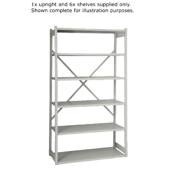 Bisley Shelving Extension Kit W1000 x D460mm Grey