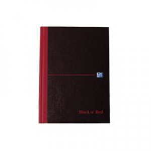 Black n Red Book Casebound 90gsm Ruled 192pp A6 Ref 100080429 [Pack 5]