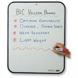 Bic Velleda Dry Wipe Board 300x440mm Red 812105