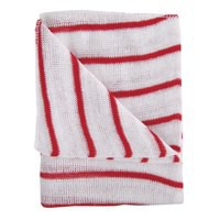 Contico Hygiene Cloth 16x12 Red/White Pack of 10 HDRE1610P
