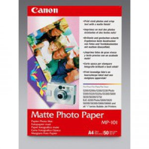 Canon Matt Photo Paper A4 Pack of 50 MP-101