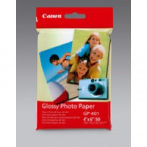 Canon Glossy Photo Paper 10x15cm Pack of 100 GP-501 0775B003