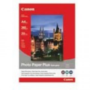 Canon Photo Paper Plus Semi-Gloss SG-201 A4 Pack of 20 Sheets 1686B021