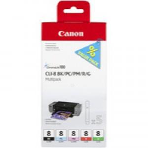 Canon Inkjet Cartridge CLI8 Multi-Pack Black 0620B027