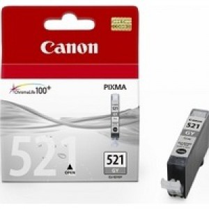 Canon iP3600/4600/MP540/620/630/980 Inkjet Cartridge 9ml Grey CLI-521GY