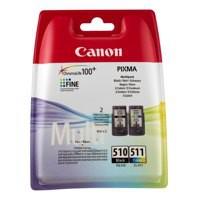 Canon PG-510/CL-511 Inkjet Cartridge Multi-Pk Black/Colour 2970B010