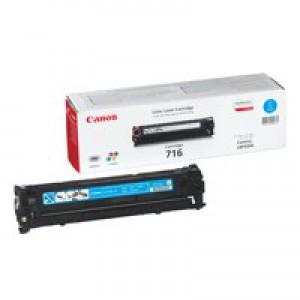 Canon LBP-5050/5050N 716C Laser Toner Cartridge 1500 Prints Cyan 1979B002AA