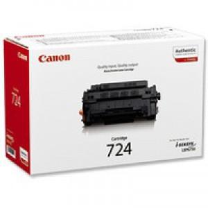 Canon LBP-6750DN Laser Toner Cartridge CRG724 Black 3481B002AA
