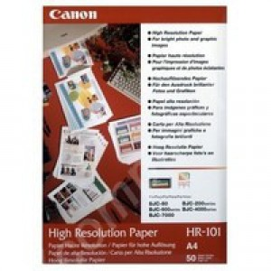 Canon High Resolution Inkjet Paper A4 Pack of 200 HR-101A4