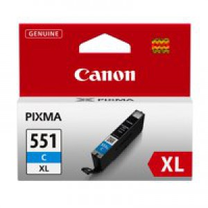Canon Pixma CLI-551XLC Inkjet Cartridge High Yield Cyan 6444B001