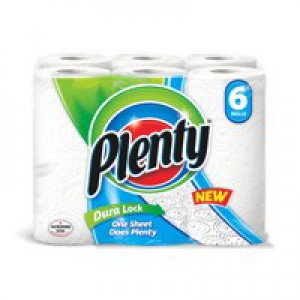 Plenty Kitchen Roll White (Pk 6) KSCABlackR6
