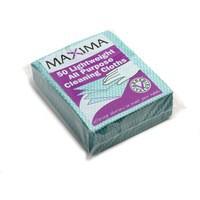 Maxima All Purpose Cloth Green Pack of 50 KECORYG