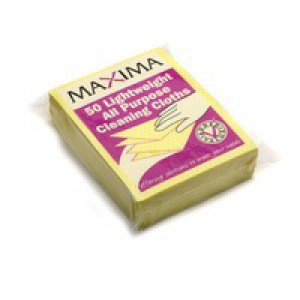 Maxima All Purpose Cloth Yellow Pack of 50 KECORYY