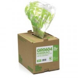 The Green Sack Refuse Bag Heavy Duty Black in Dispenser Pack of 75 GRO604
